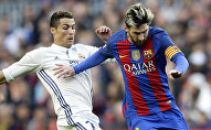 Нападающий Барселоны Лионель Месси и форвард Реал Мадрида Криштиану Роналду. Архивное фото