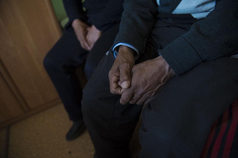 Пациенты в республиканском наркологическом центре в Бишкеке