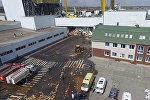 Липецк облусундагы Лебедянь шаарында PepsiCo заводунун кампасынын чатыры урап түштү