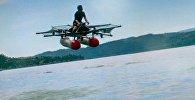 Снимок с видеохостинга Youtube пользователя Kitty Hawk. Летающее транспортное средство с вертикальным взлетом