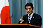 Жаратылыш кырсыктарынын кесепеттерин жоюу боюнча министр Масахиро Имамуранын архивдик сүрөтү