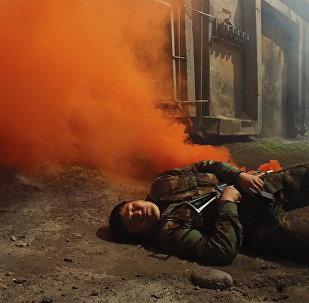Бишкекте атайын кызмат террорчуларды жок кылды. ТЭЦтеги машыгуу