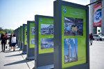 На центральной площади Ала-Тоо открылась фотовыставка, приуроченная к Дню Бишкека
