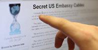 Пользователь интернета читает страницу международного социального сетевого проекта WikiLeaks. Архивное фото