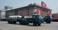 Түндүк Кореядагы аскердик парад. Архив