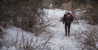 Ала-Арча капчыгайындагы альпинист. Архив