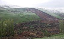 Сход оползня в селе Аюу Узгенского района