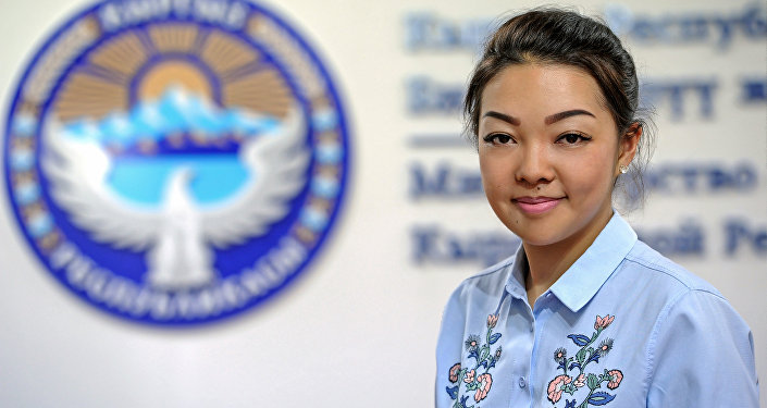 Пресс-секретарь Министерства образования и науки КР Айзура Чыкынова. Архивное фото