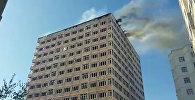 Пожар в строящемся элитном доме в Джале