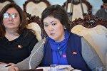 КСДП фракциясынын депутаты Жылдыз Мусабекова. Архив