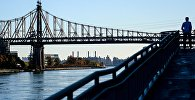 Мост через Ист-Ривер в Нью-Йорке. Архивное фото