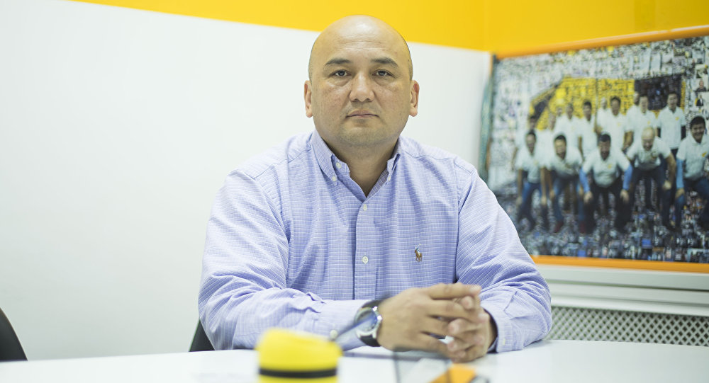 Кыргызстандык профессор Нурлан Наматов маек учурунда