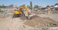 Мэрия Бишкека снесла незаконно возведенные фундаменты, тем самым предотвратив самозахват муниципальной земли