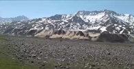 Пугающее зрелище! Чоналайцы сняли на видео землетрясение в горах
