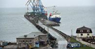 Корсаковский морской торговый порт в Южно-Сахалинске. Архивное фото
