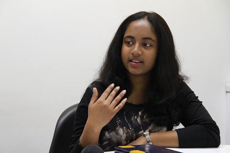 Студентка медицинского факультета из Шри-Ланки Михири Мадхушанки во время интервью Sputnik Кыргызстан