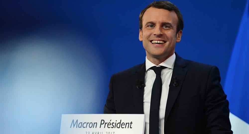 Франциялык мамлекеттик ишкер, Алга партиясынын лидери Эммануэль Макрондун архивдик сүрөтү