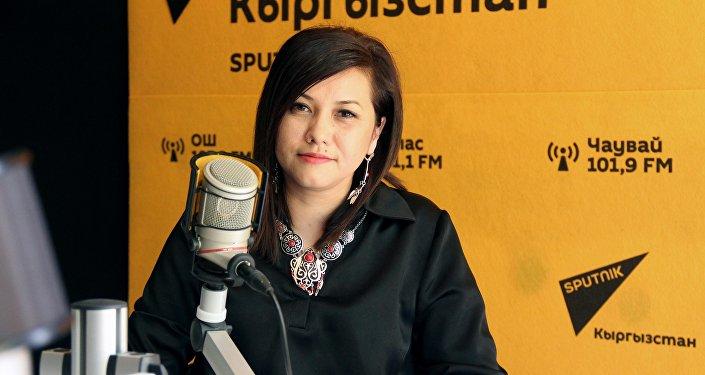 Кыргызстан обондору радиосунун программалык директору Лилия Абдыбаитова