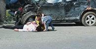 ИИМдин Кайгуул милициясынын башкы башкармалыгы тарабынан алынган видеодон бир кадр
