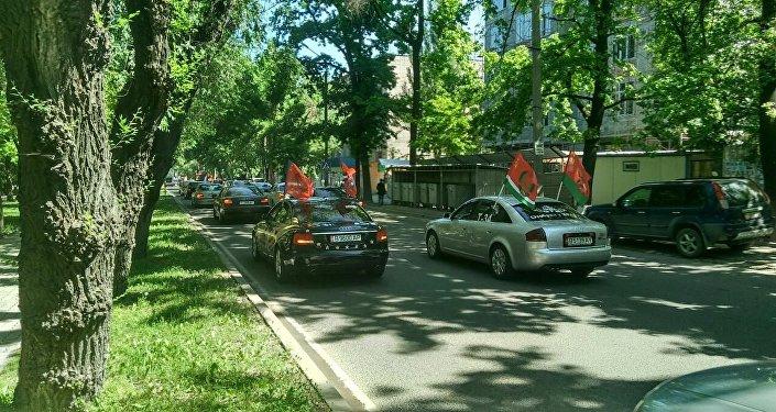 В столице стартовал автопробег, посвященный Дню Победы.