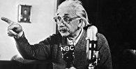 Немецкий ученый, создатель теории относительности и один из создателей квантовой теории и статистической физики Альберт Эйнштейн. Архивное фото