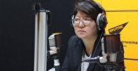 Заместитель министра культуры, информации и туризма Кыргызской Республики Айнура Темирбекова во время интервью Sputnik Кыргызстан