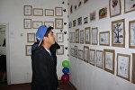 Бишкектеги Көркөм сүрөт мектеп-интернатында 8+8 аталышында сүрөт көргөзмөсү уюштурулду