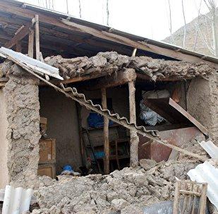 Последствия землетрясения в Чон-Алайском районе