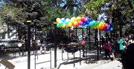 В Бишкеке на территории Республиканской библиотеки для детей и юношества имени Баялинова состоялось открытие спортивной площадки Street Workout