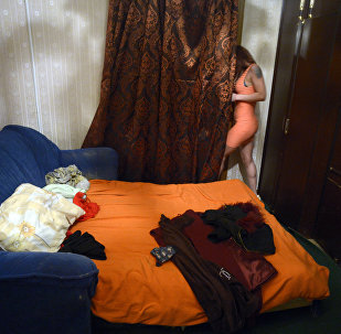 Девушка занимающая проституцией. Архивное фото