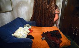 Девушка, занимающаяся проституцией. Арихвное фото