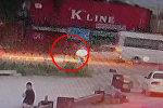 Камера сняла смертельный наезд на школьника возле Кудайбергена