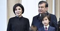 Өзбекстандын башчысы Шавкат Мирзиёев үй-бүлөсү менен. Архив
