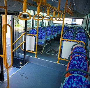 Жаңы автобустун салону. Архивдик сүрөт