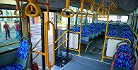 Автобустун салону. Архивдик сүрөт