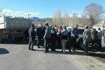 Бишкек — Нарын — Торугарт мамлекеттик трассасы өткөн Оттук айылын жашоочулары митинг учурунда