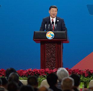 Кытай Эл Республикасынын төрагасы Си Цзиньпин Бир алкак — бир жол эл аралык кызматташуу форумунда