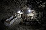 Египеттик археологдор Минья провинциясынын Туна-эль-Габаль аймагындагы жер алдындагы күмбөздөн 17 мумия табышты