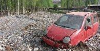 Баткен облусунун Кадамжай районундагы Айдаркен шаарында сел жүрүп турак-жайларды каптады