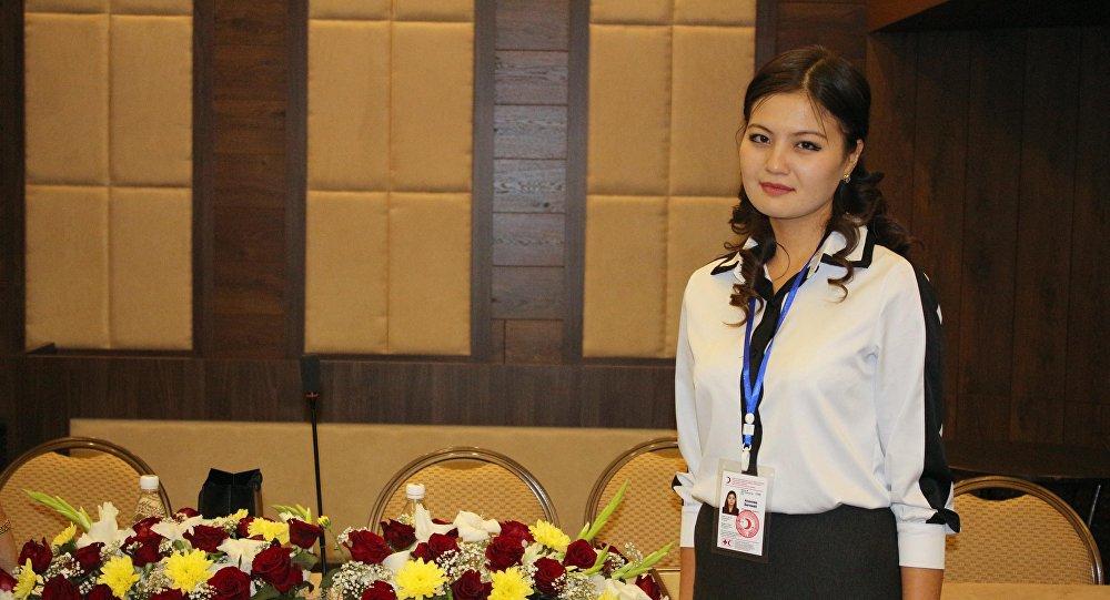 Пресс-секретарь Национального общества Красного Полумесяца КР Бегимай Асанова. Архивное фото