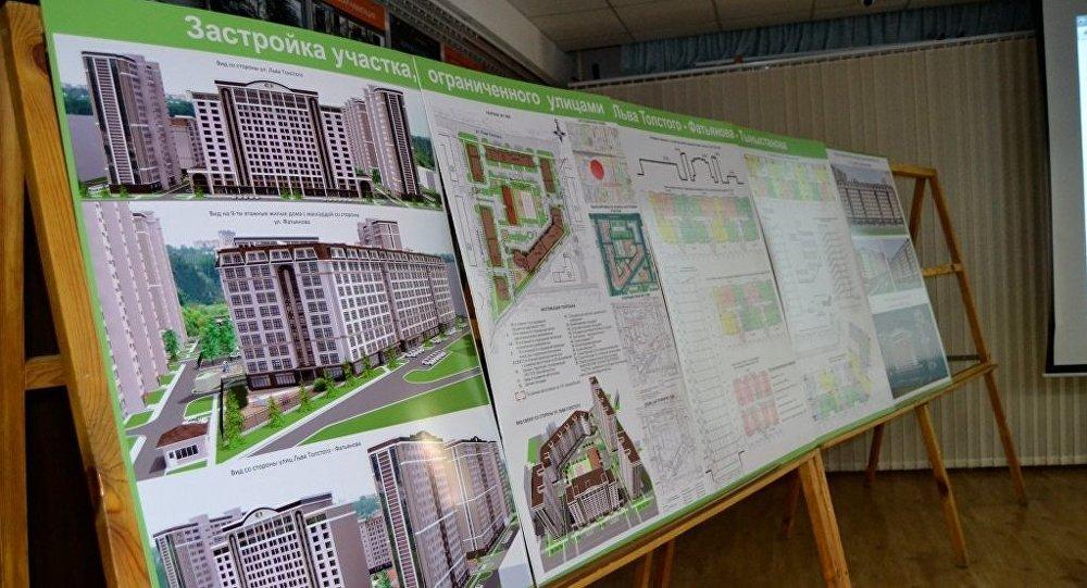 Проект застройки в небольшом квартале, ограниченном улицами Фатьянова, Льва Толстого и Тыныстанова