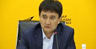 Начальник Управления муниципальным имуществом мэрии Бишкека Султан Омуров в мультимедийном пресс-центре Sputnik Кыргызстан