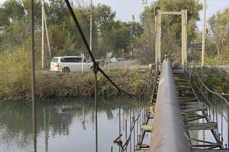 Мост на улице Лермонтова в Бишкеке