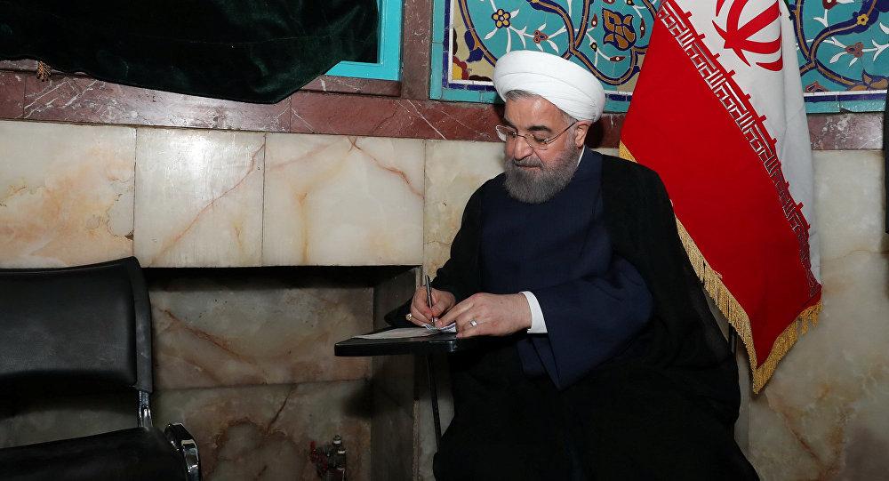 Ирандын азыркы лидери Хасан Роухани шайлоо учурунда