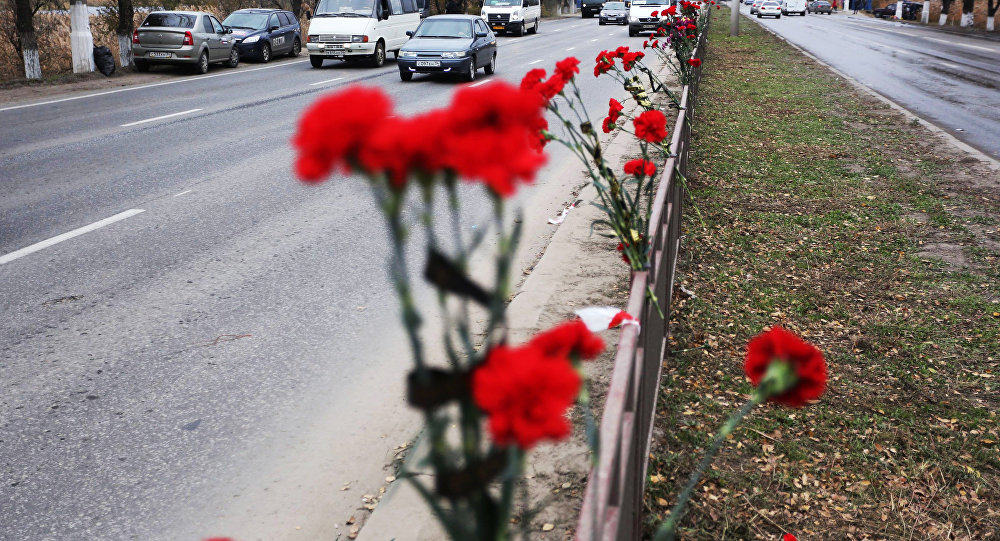 Цветы у автомобильной дороги. Архивное фото