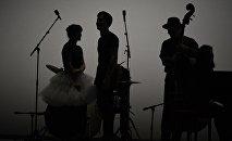 Музыканты на сцене. Архивное фото