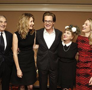 Актеры сериала Твин Пикс во время презентации нового сезона на телеканале Showtime. Архивное фото