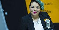 Вокалистка из Кыргызстана, участница украинского шоу Голос Салтана Аширова во время интервью Sputnik Кыргызстан