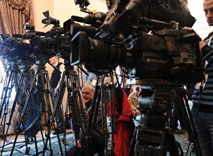 Журналисты на мероприятии. Архивное фото