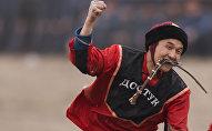 Игрок Кок-Бору с камчой. Архивное фото